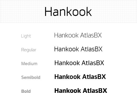 Hankook AtlasBX – Font System EN