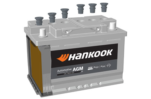 Hankook AtlasBX – Automotive, AGM Technology, Vibration & leakproof, 6 Valve, Gas recombination technology